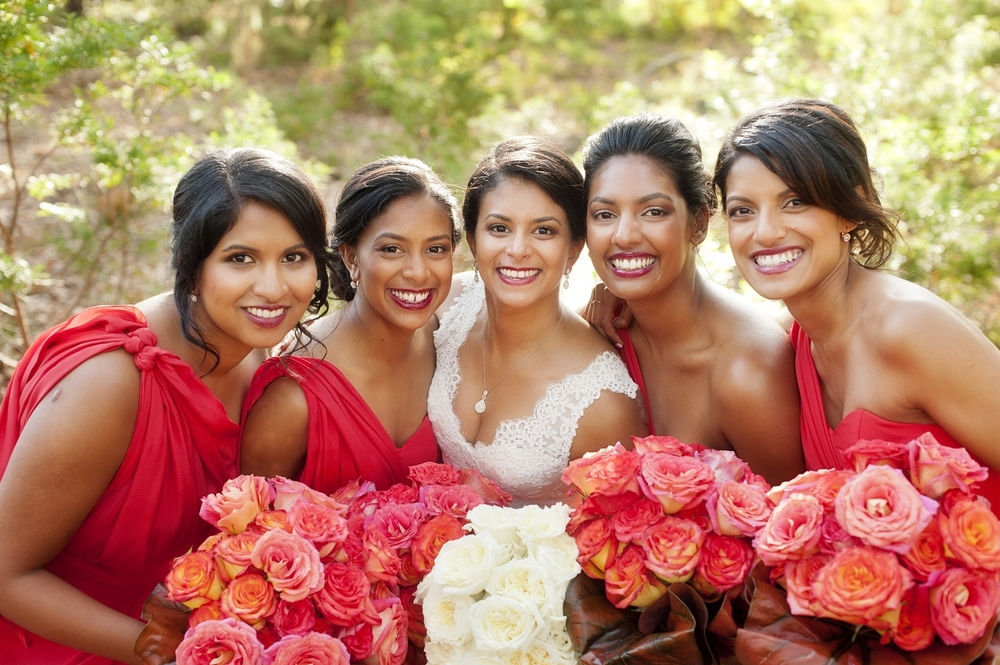 colourful orange bridesmaids by steph audino perth