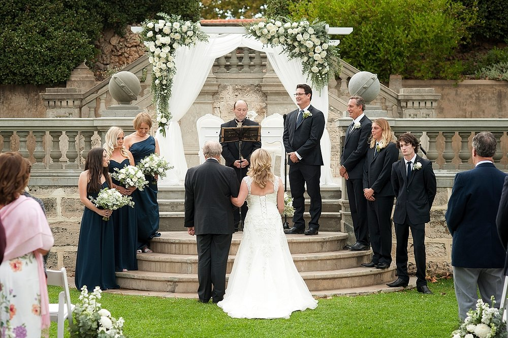 18wedding ceremony on limestone steps at cottesloe civic centre perth 22.jpg