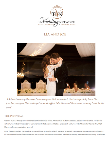 The Wedding Network | Lia & Joe