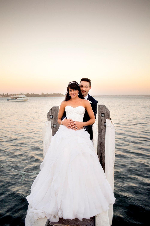 60_mosmans sunset on jetty wedding perth.jpg