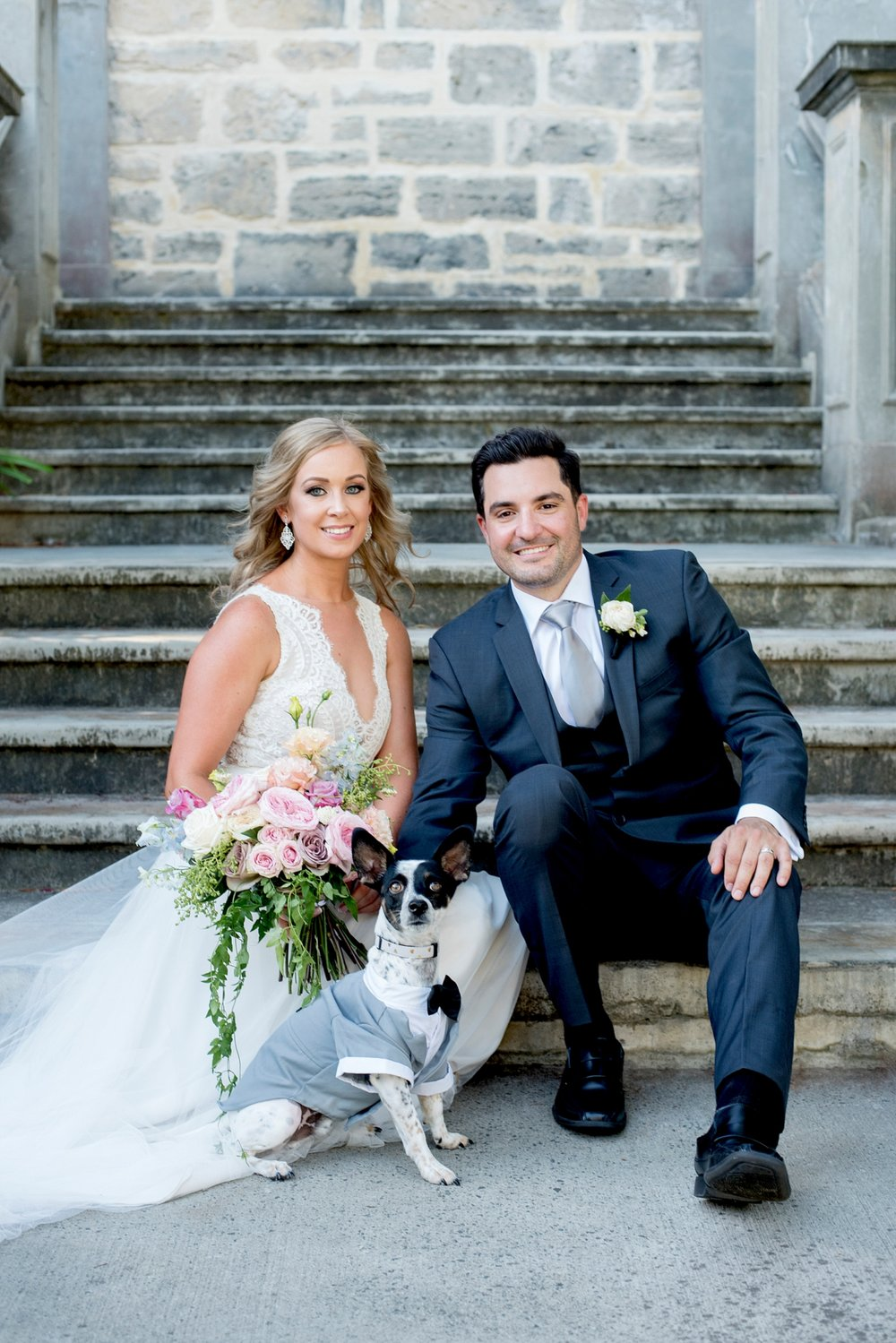 36_dog as ring bearer with couple wedding perth.jpg