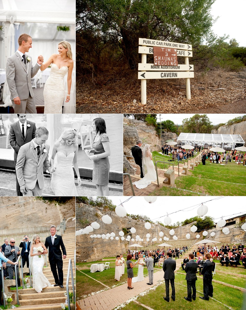quarry amphitheatre perth wedding ceremony