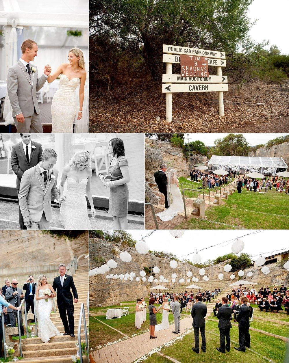 quarry amphitheatre perth wedding ceremony