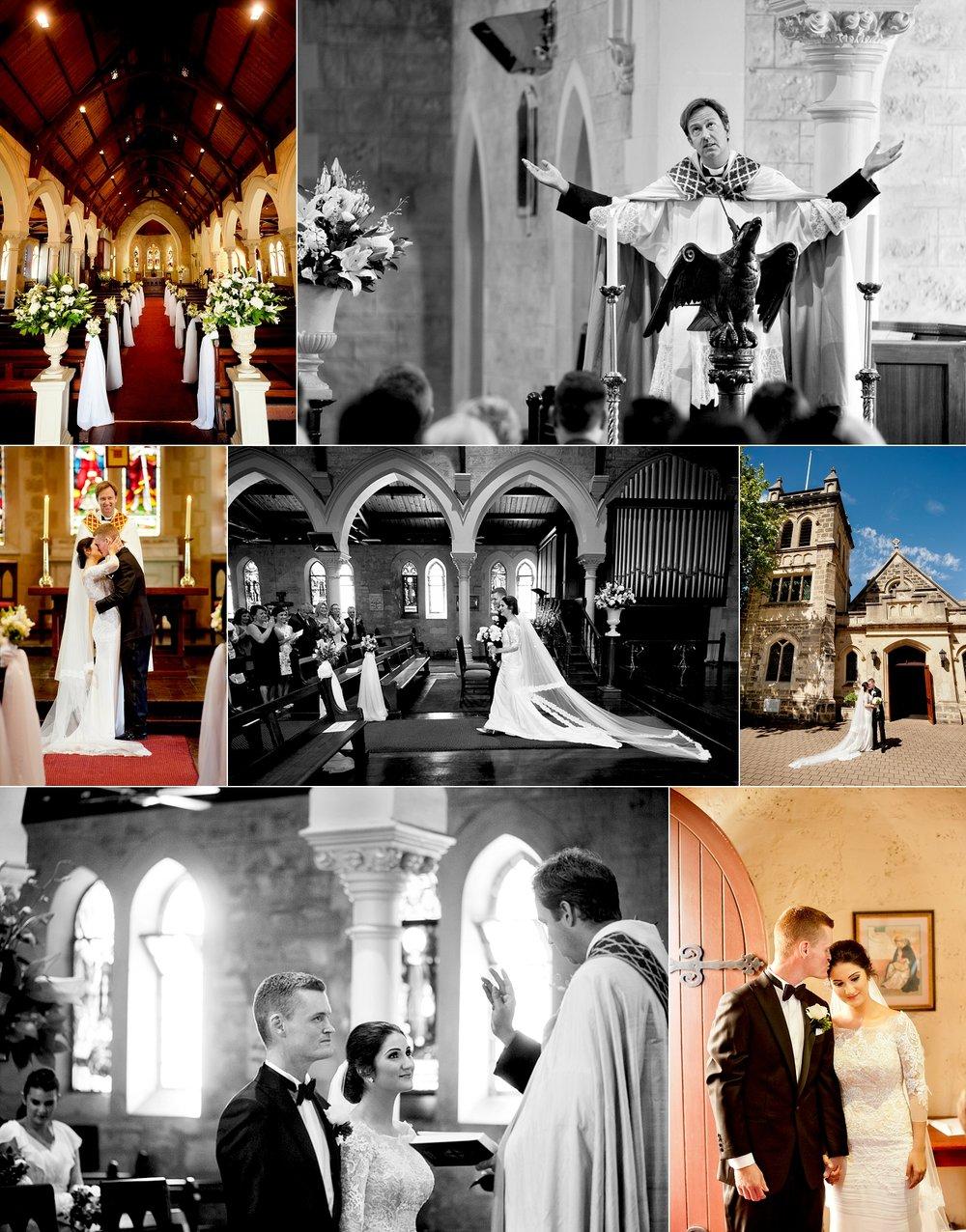 christ church claremont perth wedding