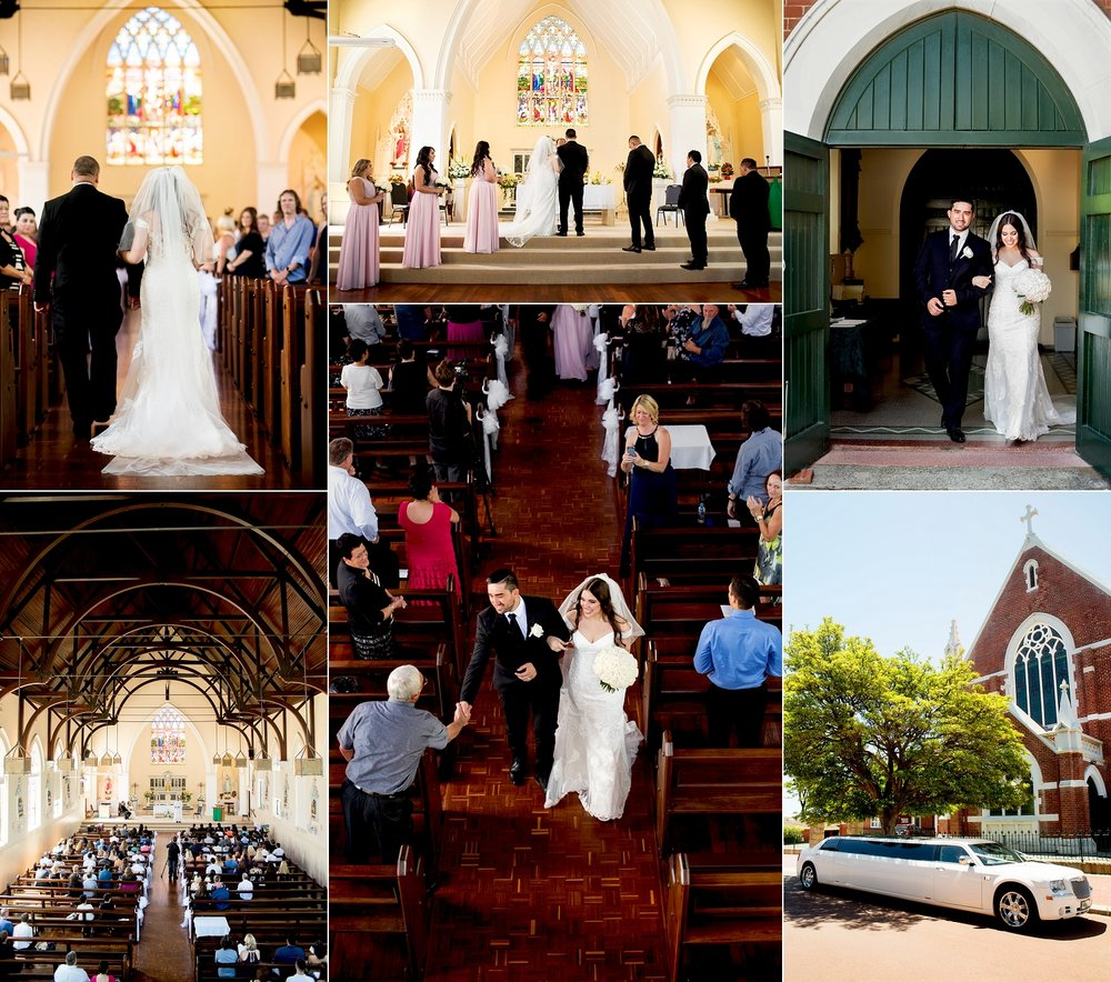 st marys leederville catholic wedding perth
