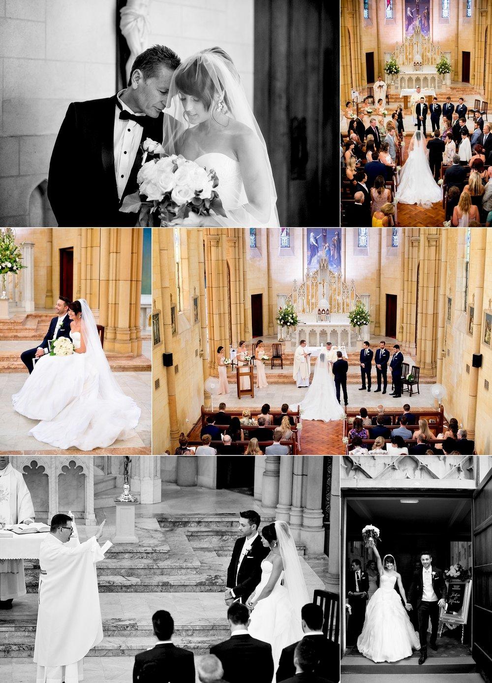 st michaels the archangel catholic wedding perth