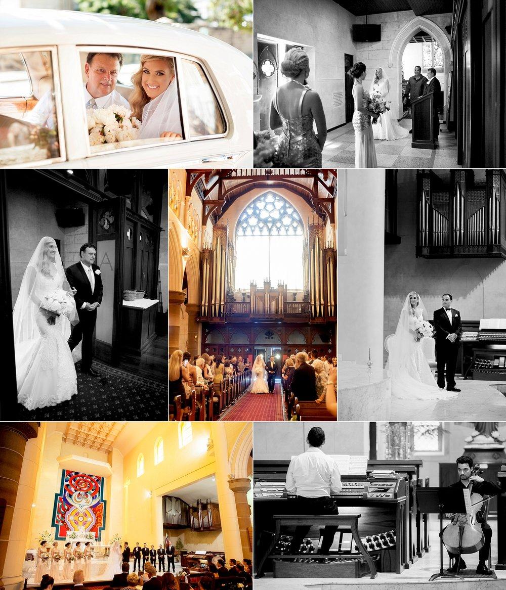st patricks basilica catholic wedding ceremony fremantle