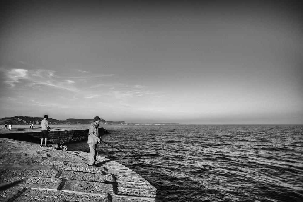 Fishing at Lyme Regis