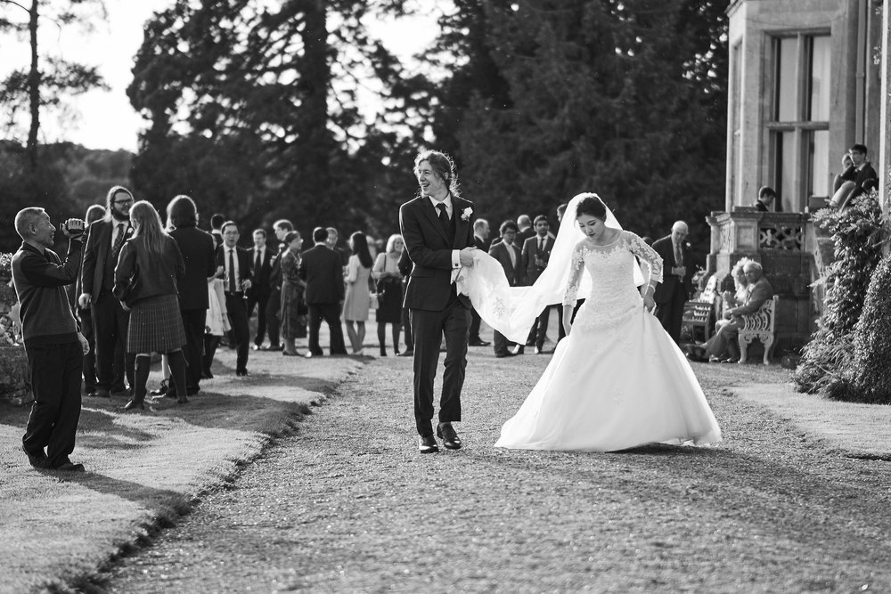 Bride and Groom walking