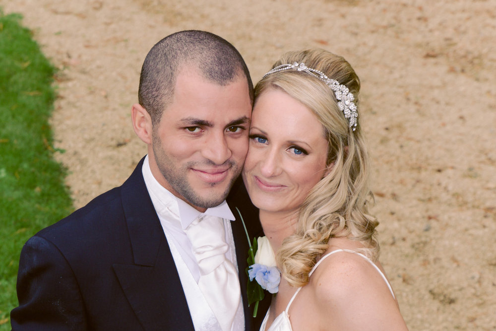Bride and Groom at Orchardleigh House