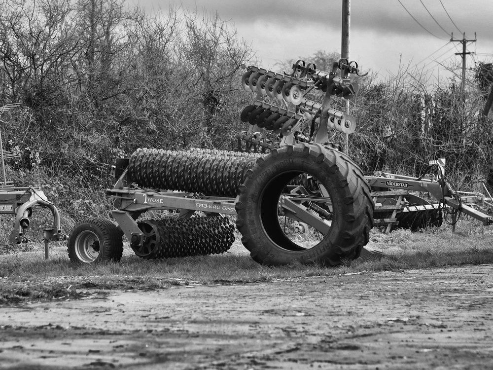 Trator in field