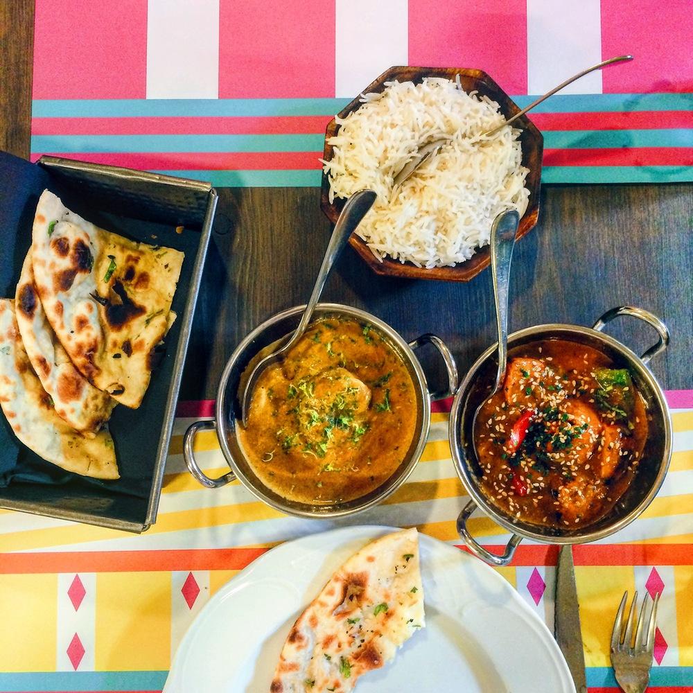 Indian food at Tandoor, Barcelona