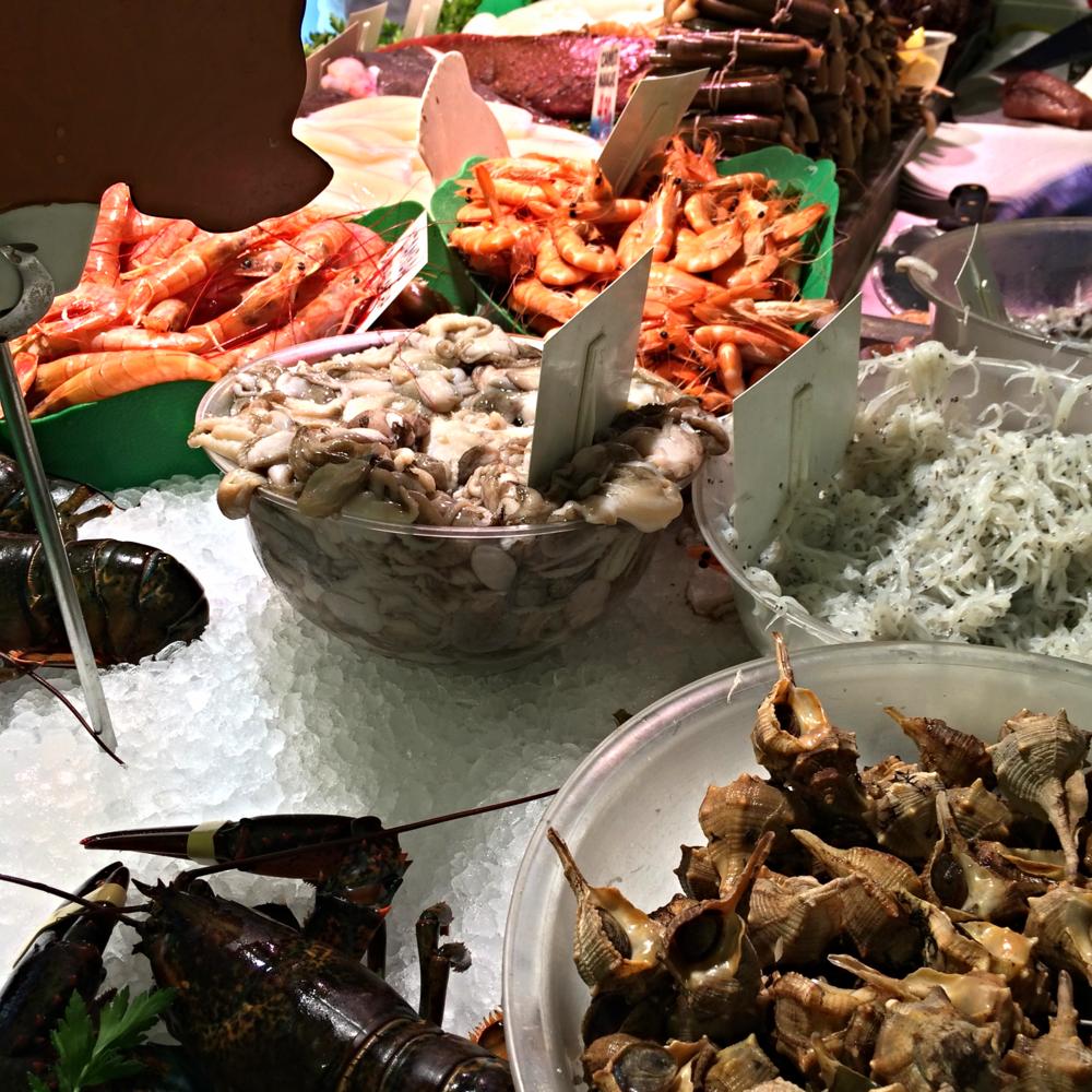 Seafood at La Paradeta, Barcelona