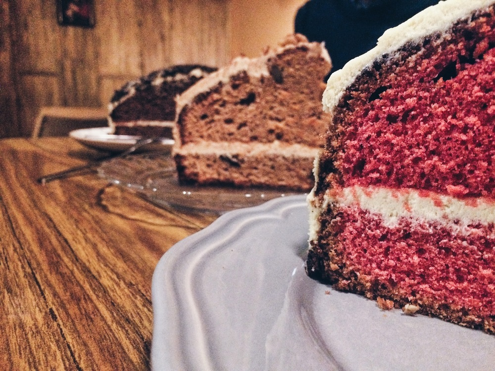 Red velvet cake, Carrot cake and Oreo cake at Mendl's Barcelona