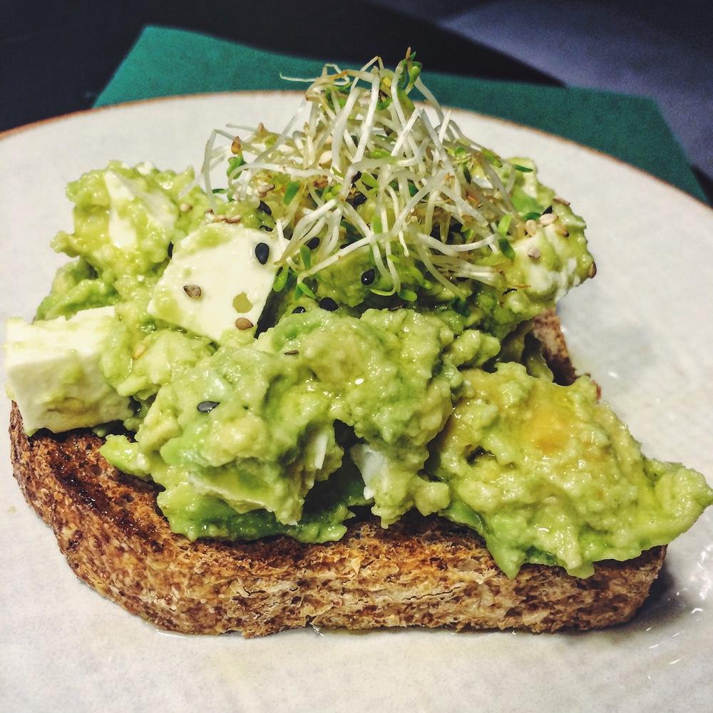Avocado Toast at Green & Berry Barcelona