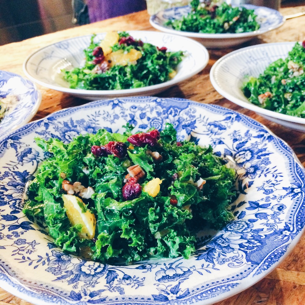 Kale salad at Labcuina, Barcelona