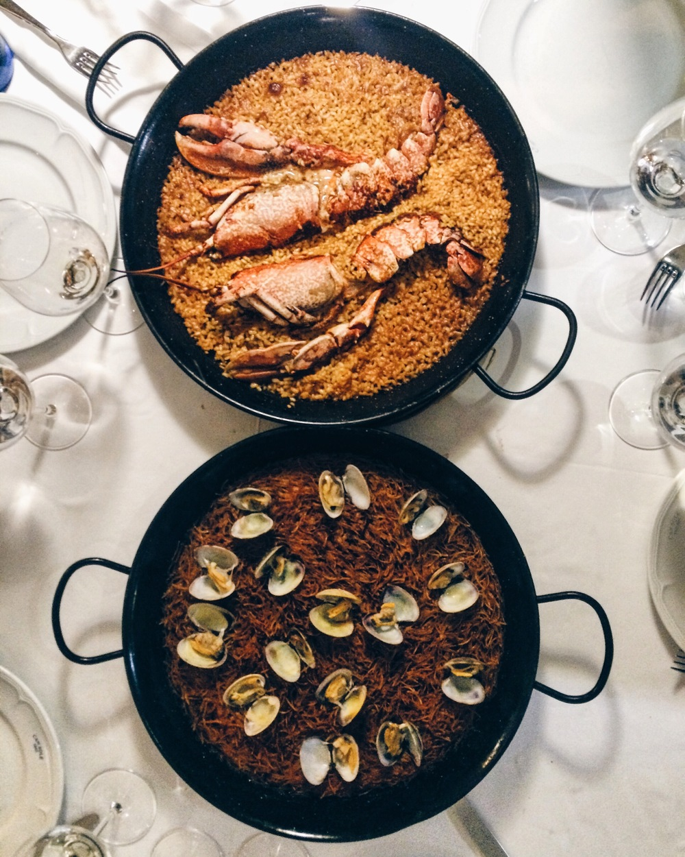 Lobster paella and fideua at Can Solé Barcelona