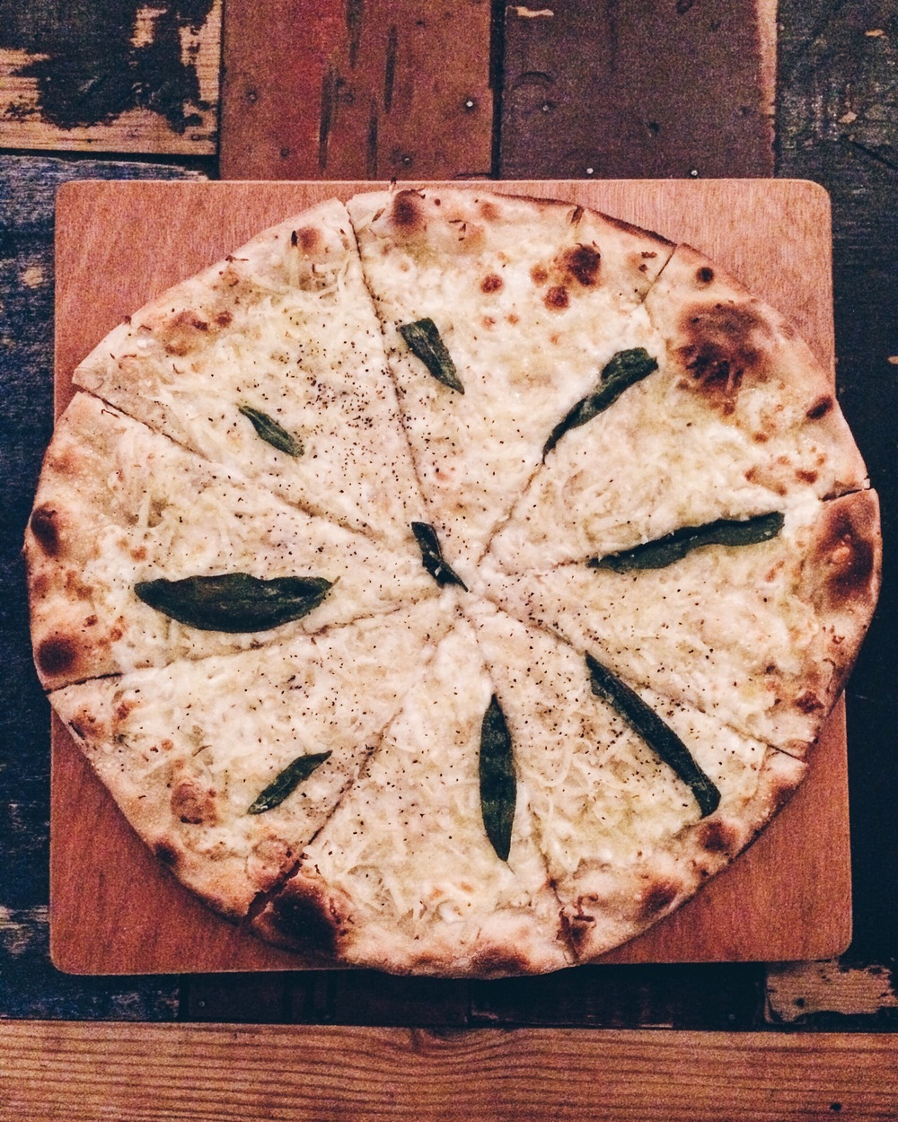 Pizza at Crate Brewery, London