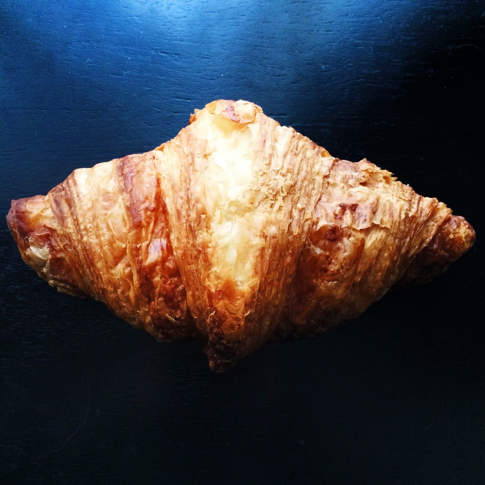Hazelnut-chocolate cream filled croissant at La Xocolateria by Oriol Balaguer