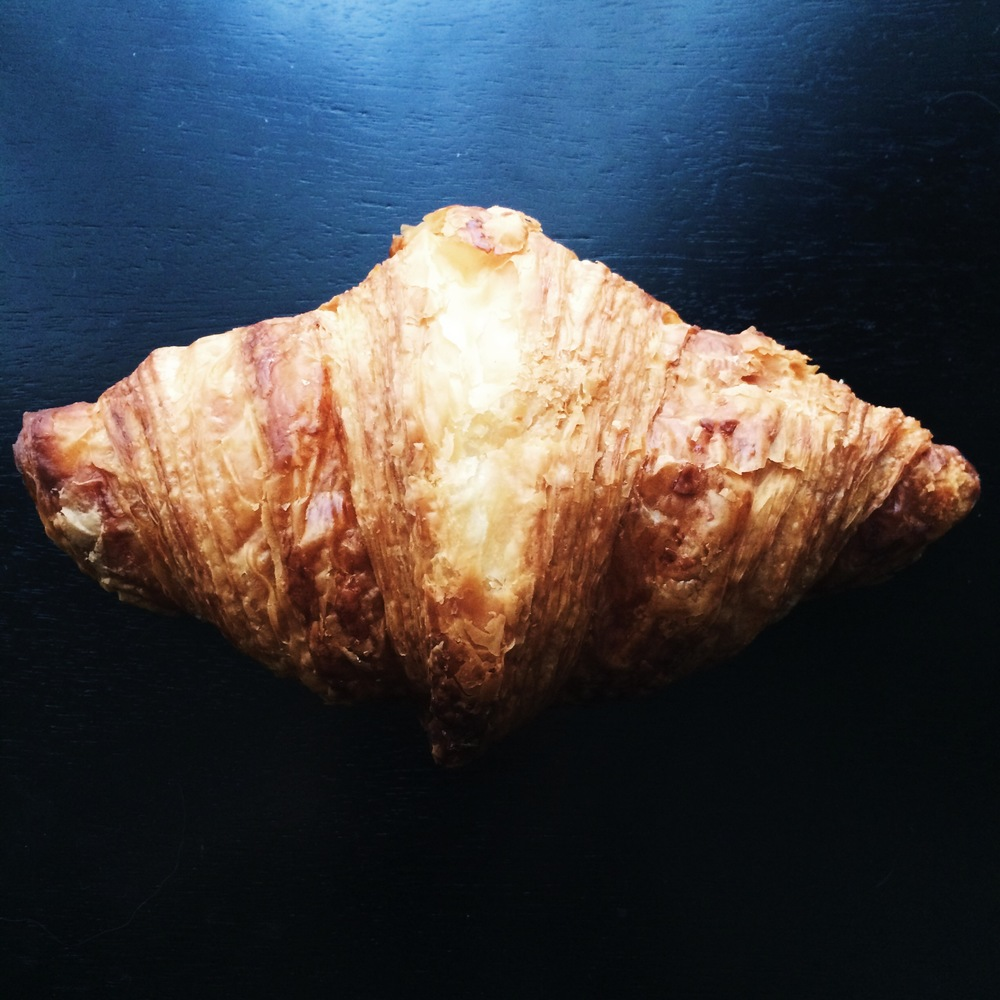 Hazelnut cream filled croissant from Oriol Balaguer, Barcelona