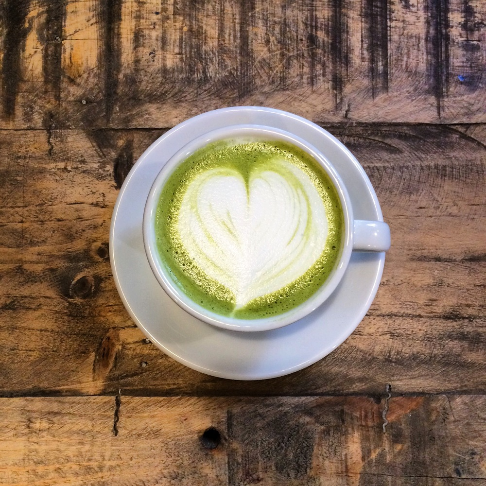 Matcha Latte at recently opened Hammock Juice Station, Barcelona