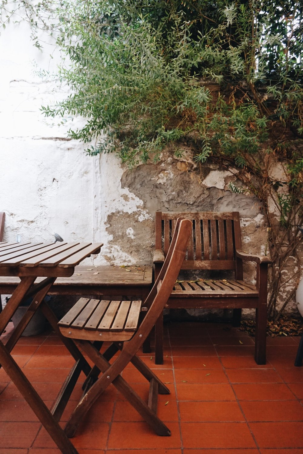 The patio at Mama's Cafe, Barcelona