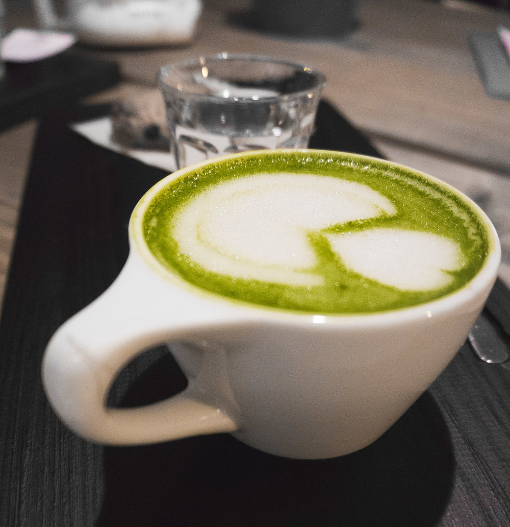 Matcha Latte at Hidden Cafe Barcelona