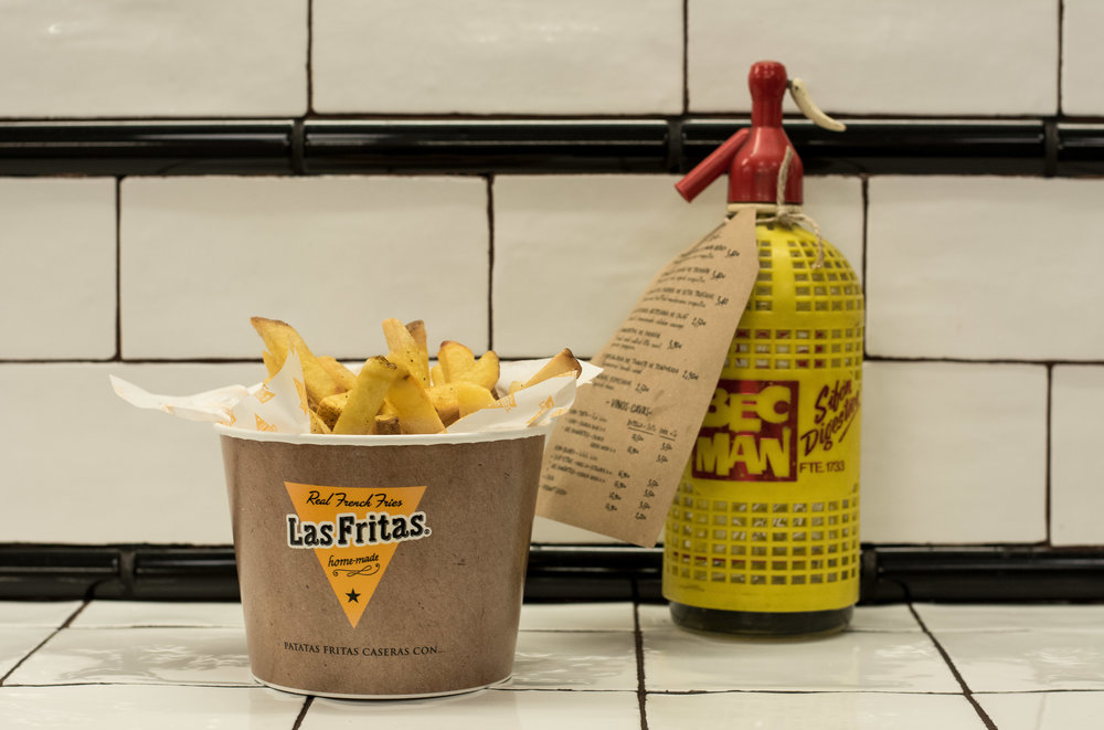 Bucket of fries at Las Fritas, Barcelona