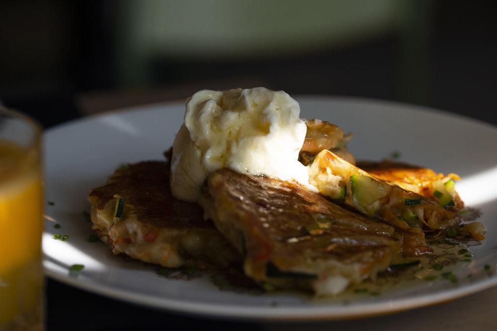 Savoury pancakes, Nolita Brunch Barcelona