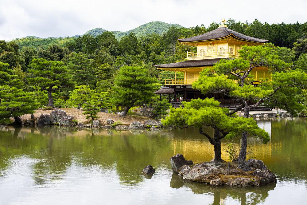 Kinkaku-Ji Temple, known as the Golden Pavilion in Kyoto
