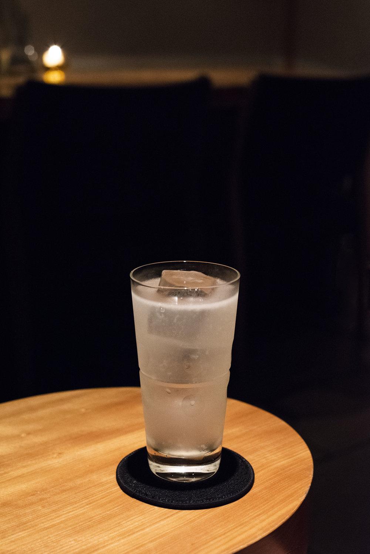 Craft Sake Cocktail in Finlandia Bar, Kyoto