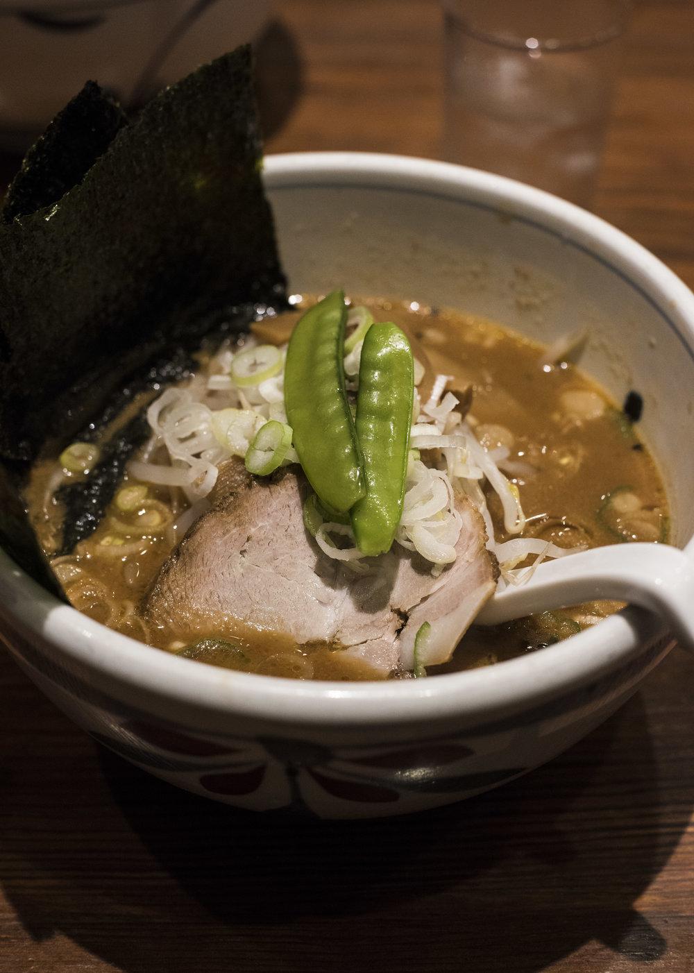 Miso Ramen at Ittenbari Ramen, Akasaka Tokyo
