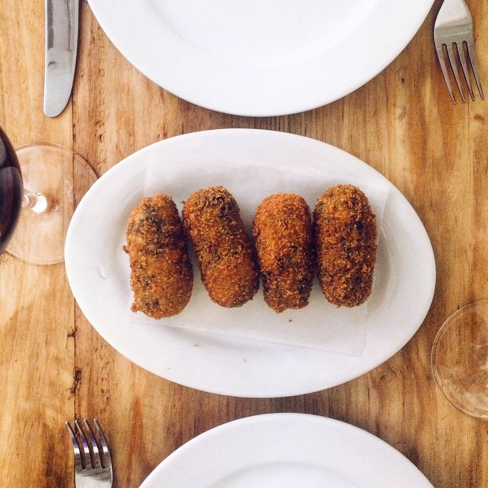Octopus croquetas at Santa Gula, Barcelona
