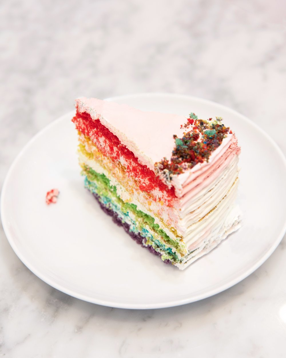 Rainbow Cake at Bing Bing Cafe Barcelona