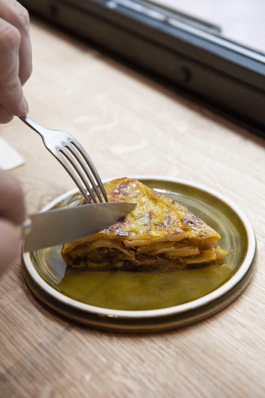 The tortilla of the day at Berbena restaurant, Barcelona