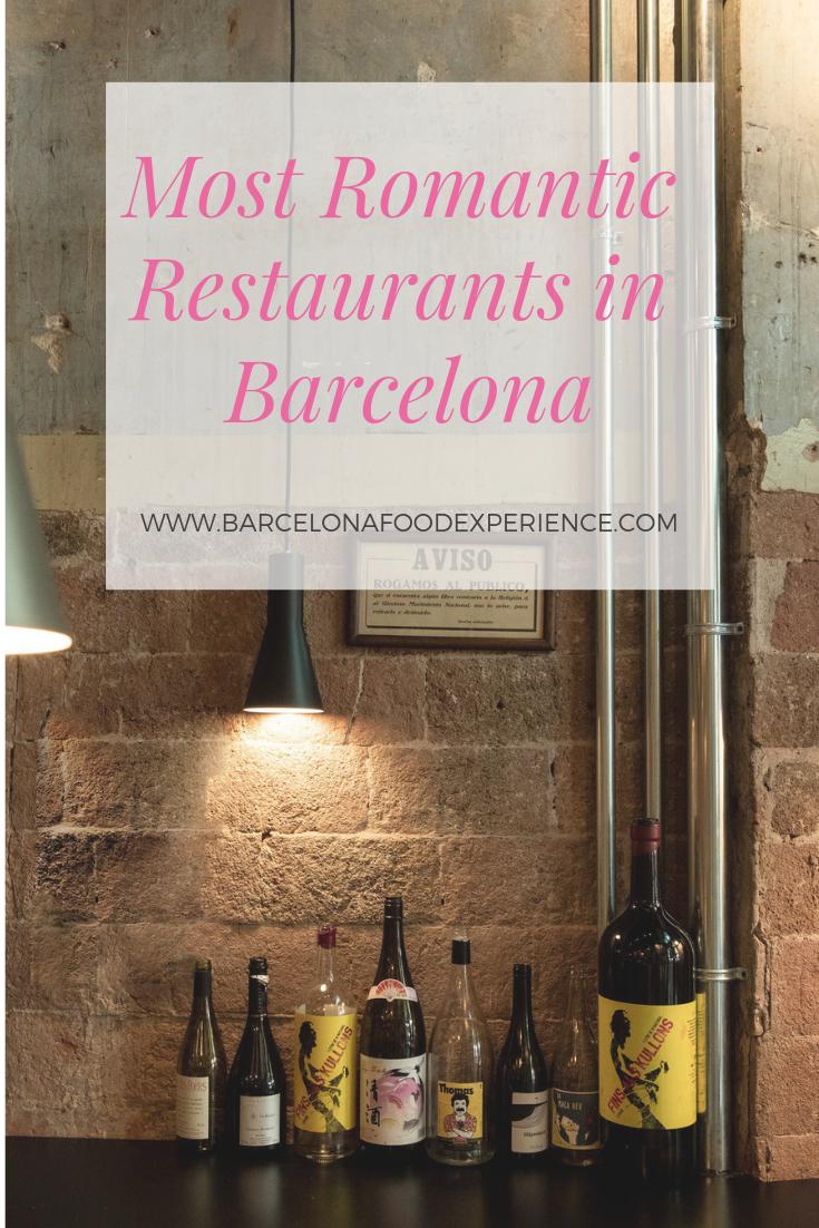 Most romantic restaurants Barcelona Spain