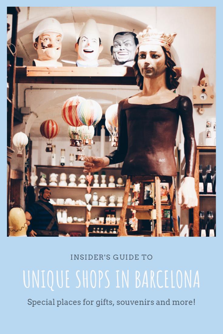 Unique shops in Barcelona Spain
