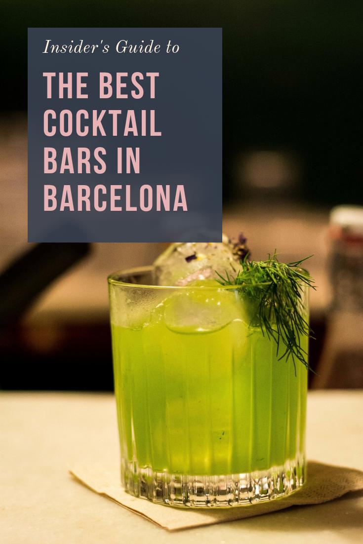 Best cocktail bars in Barcelona Spain