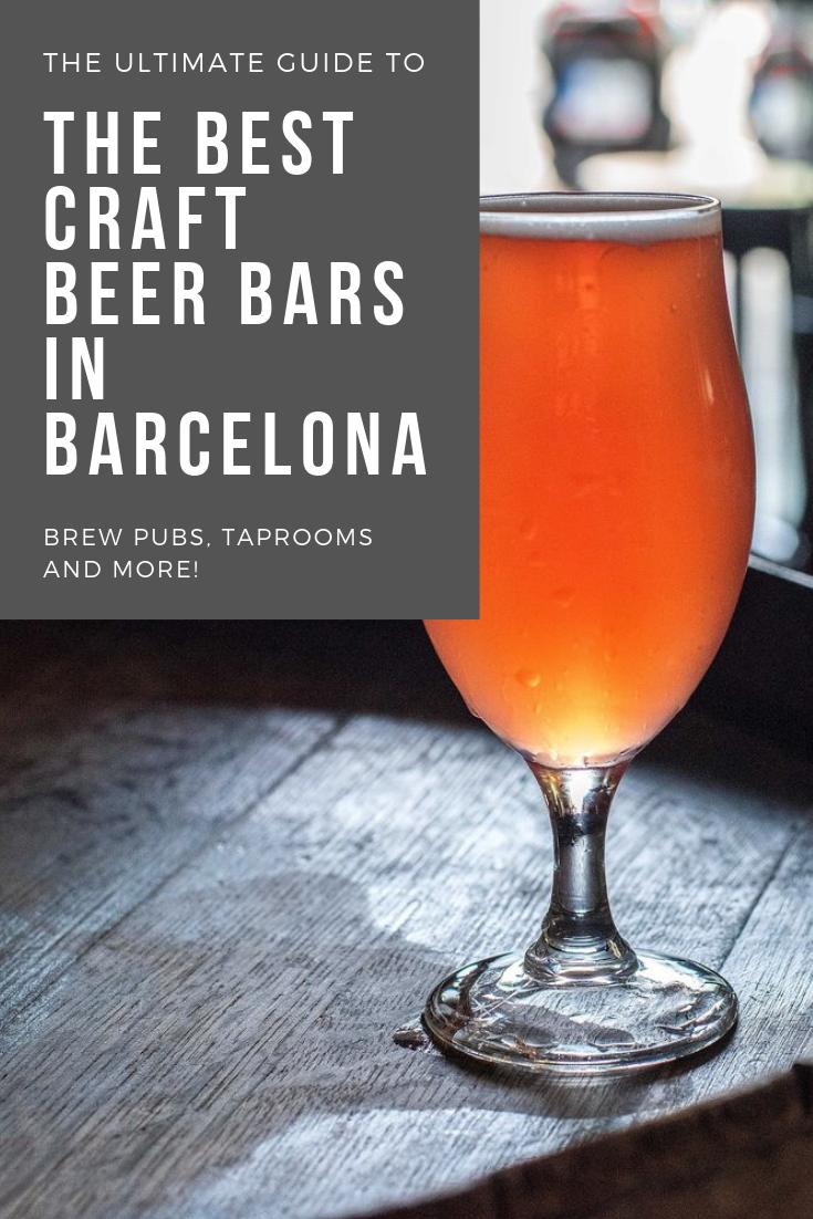 Best craft beer bars in Barcelona Spain