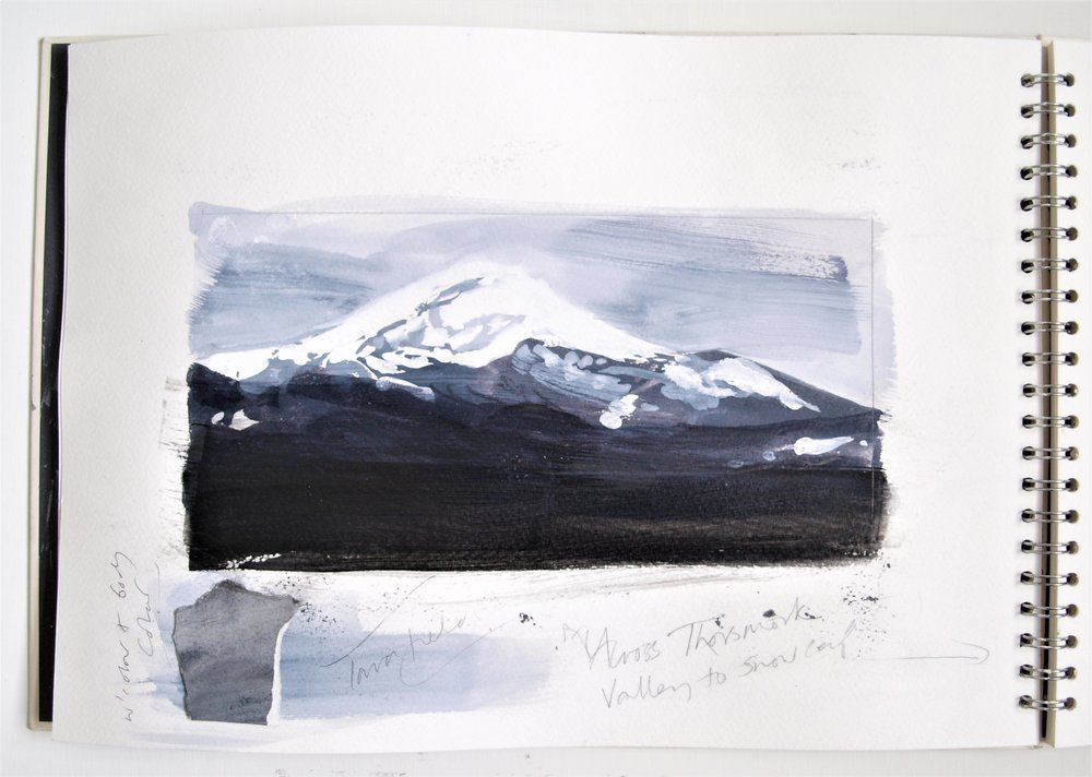 ICELAND LIGHT INTO DARK Sketchbook 2016 (page 7) C.G.GUEST.JPG