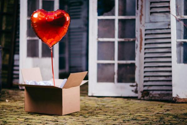 Ballon Coeur accompagné de son message d'amour A partir de 17€