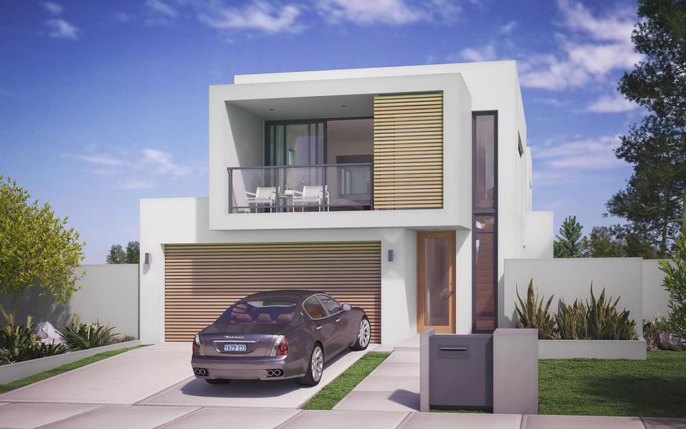 Orlando storey narrow home design home design narrow lot house home design ideas pictures - Narrow lot home designs perth ...