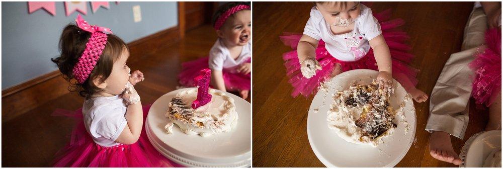 twin first birthday cake smash