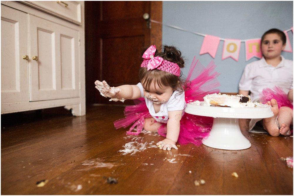 twin cake smash photography