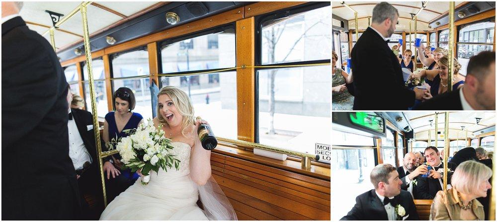 boston wedding trolley