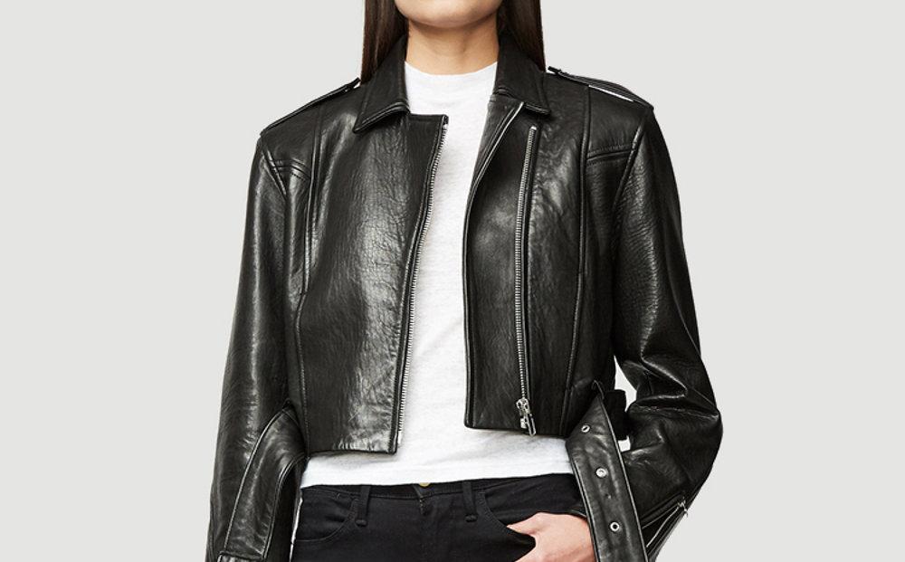 Frame,  leather crop moto jacket , $679 (on sale).