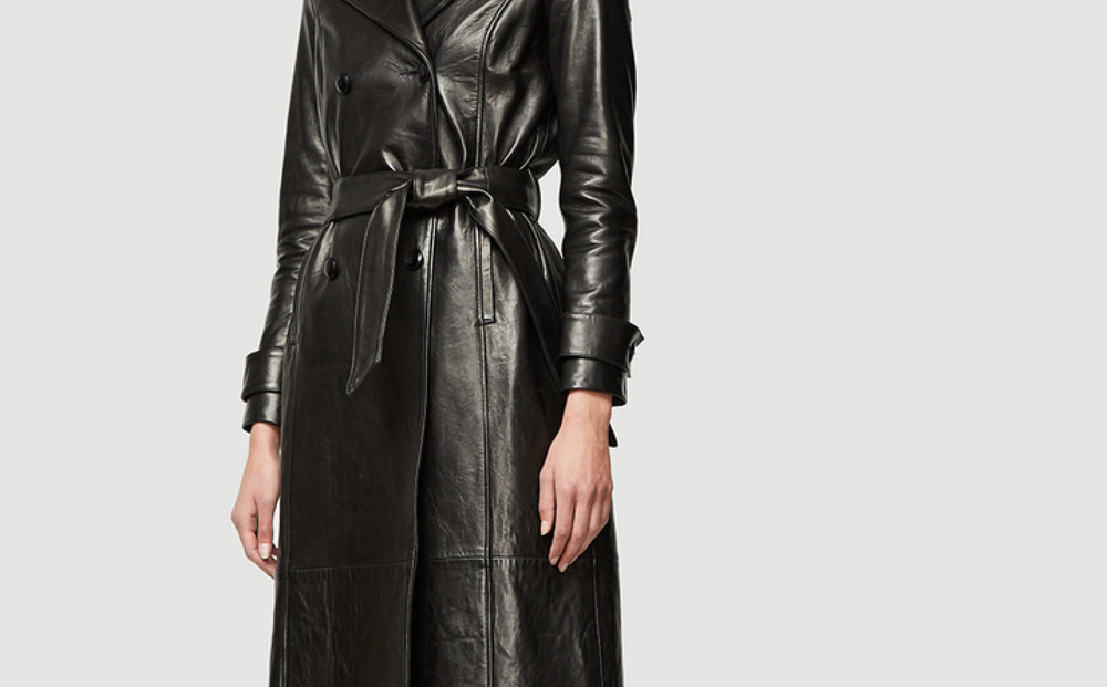 Frame,  leather trench , $1,746.99 (on sale).