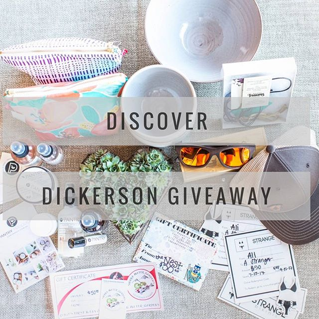 ✨DISCOVER DICKERSON GIVEAWAY✨ We've collected almost $1,000 worth of goods from 10 of our favorite businesses in Reno who will be part of the DD block party this Saturday including @thenestreno @caseydsibley @thewedgeceramicsstudio @bohogypsystreasures @strangebikinis @pantryproducts @samanthastremmel @renomassageandwellness @thedaisyhoard @tahoetimber! If you love Reno entrepreneurs, you're totally going to dig this! . To enter, just visit the link in my profile which will give you lots of options for more entries!