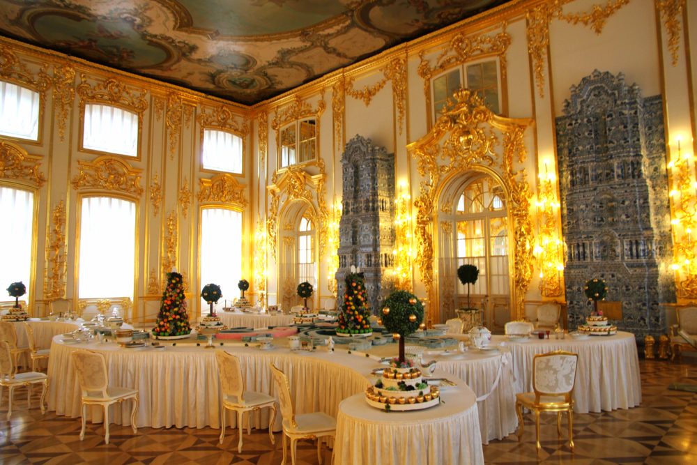 The Gold Room - Catherine's Palace, St. Petersburg, Russia