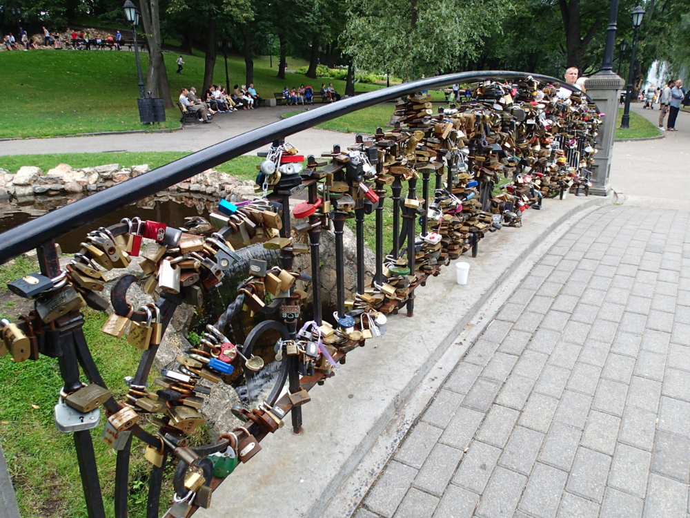Mini Love Lock Bridge - Riga, Latvia